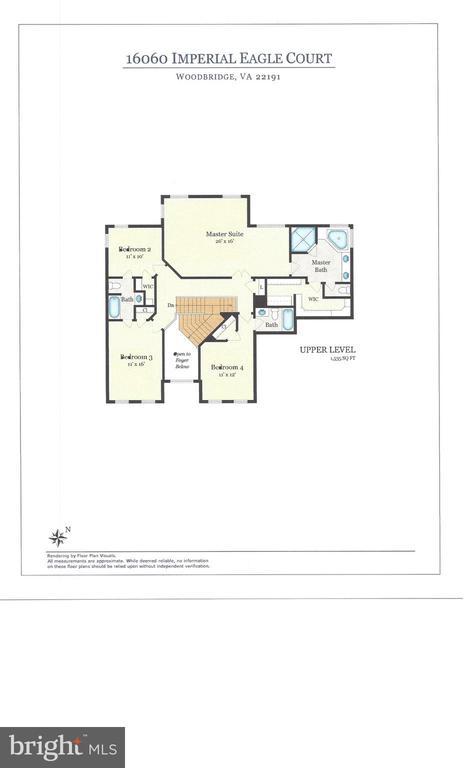 Second Level Floor Plan - 16060 IMPERIAL EAGLE CT, WOODBRIDGE