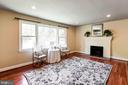 Living Room W/Large Windows & Gleaming Hardwoods - 2337 N VERMONT ST, ARLINGTON