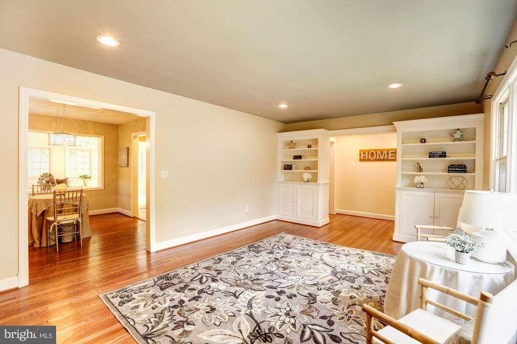 Large Living Room With Built-In Shelving & Storage - 2337 N VERMONT ST, ARLINGTON