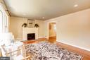 Living Room With Wood Burning Fireplace - 2337 N VERMONT ST, ARLINGTON