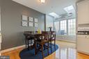 Ample lighting from skylights & 4 windows - 115 MEADOWS LN, ALEXANDRIA