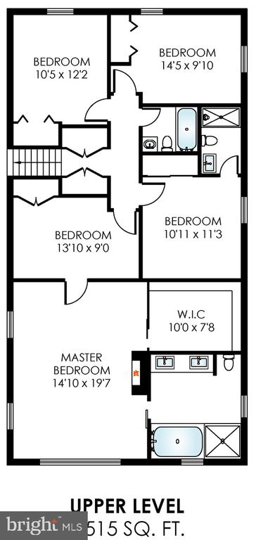 Check out the room sizes, esp MBR! - 3703 MACGREGOR CT, ANNANDALE