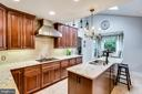 Fabulous kitchen!  Gorgeous cabinets - 3703 MACGREGOR CT, ANNANDALE