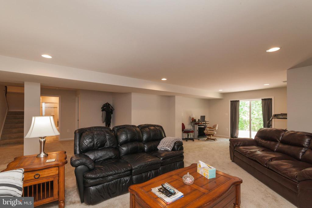 Lower Level Rec Room W/ SGD Access To Rear Patio - 5719 PINEY GLADE RD, FREDERICKSBURG
