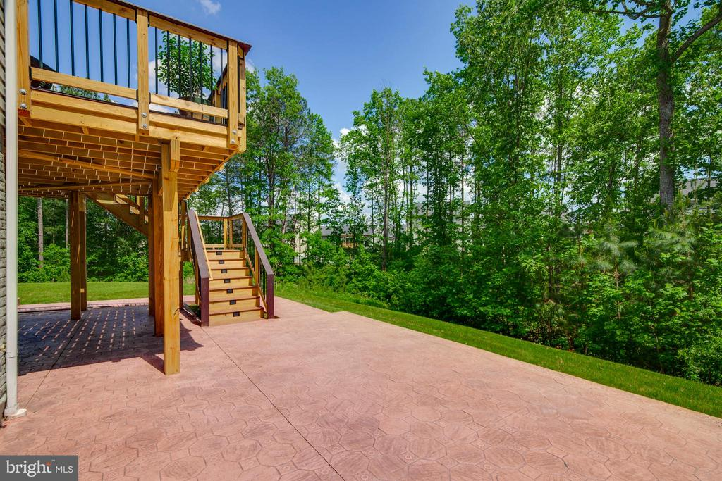 Beautiful View From Stamped Concrete Patio - 5719 PINEY GLADE RD, FREDERICKSBURG