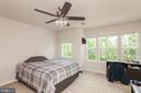 Bedroom #3 W/ Large Windows & Ceiling Fan - 5719 PINEY GLADE RD, FREDERICKSBURG
