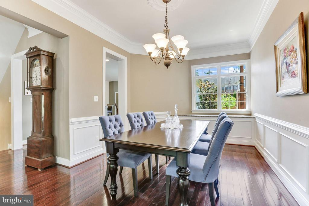 Formal  Dining Room with Custom Moldings - 43603 CATCHFLY TER, LEESBURG