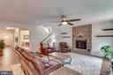 Fam Rm W/Upgraded Gas Fireplace W/ Stone Surround - 5719 PINEY GLADE RD, FREDERICKSBURG
