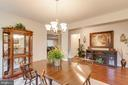 Dining Room W/ Hardwood Floors & Chandelier - 5719 PINEY GLADE RD, FREDERICKSBURG