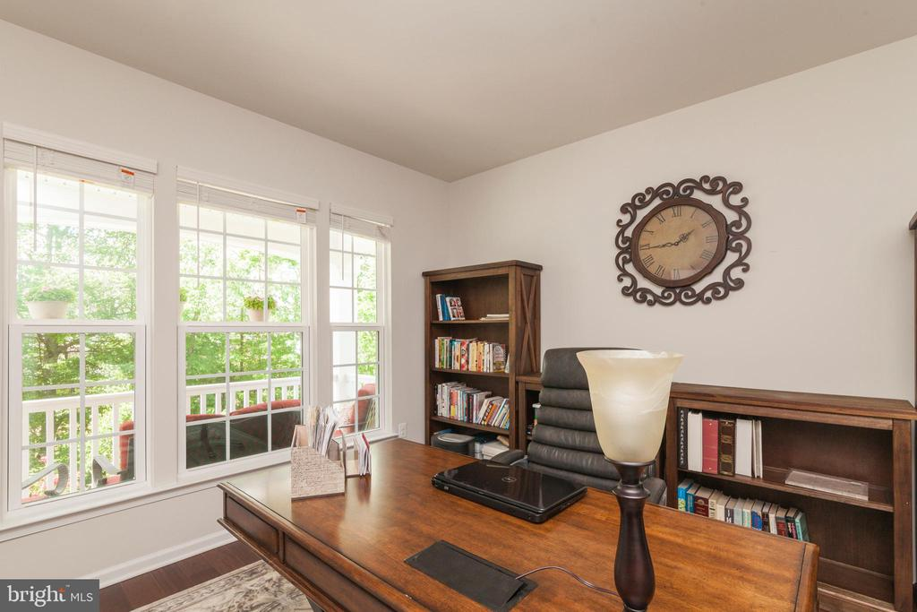 Office W/ Large Windows & View Of Front Yard - 5719 PINEY GLADE RD, FREDERICKSBURG