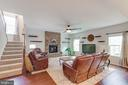 Beautiful Family Room W/ Great Natural Light - 5719 PINEY GLADE RD, FREDERICKSBURG