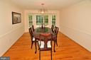 DINING ROOM - 13466 POINT PLEASANT DR, CHANTILLY