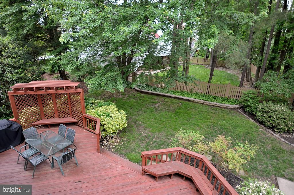 VIEW OF DECK - 13466 POINT PLEASANT DR, CHANTILLY
