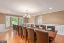 NO need for a kids table in this grand dining room - 2843 GARRISONVILLE RD, STAFFORD