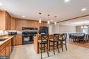 Open kitchen with pendant lighting - 2843 GARRISONVILLE RD, STAFFORD