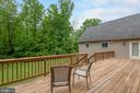 Expansive Deck looking out to wooded area - 2843 GARRISONVILLE RD, STAFFORD