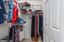 His  Walk in closet - 2843 GARRISONVILLE RD, STAFFORD