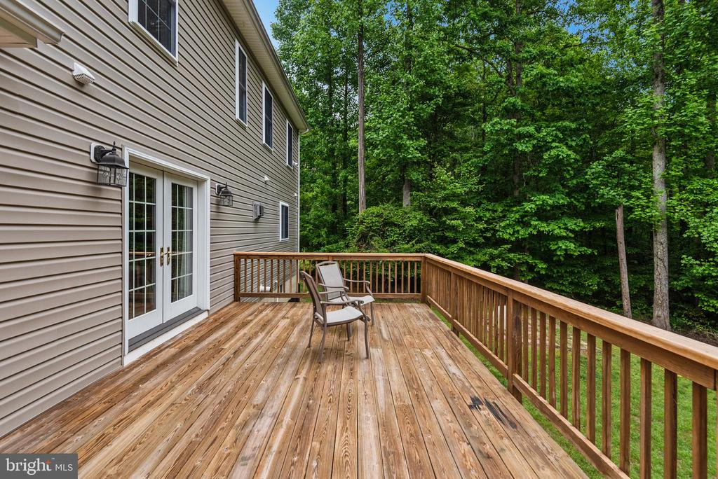 Natural setting in this peaceful backyard - 2843 GARRISONVILLE RD, STAFFORD