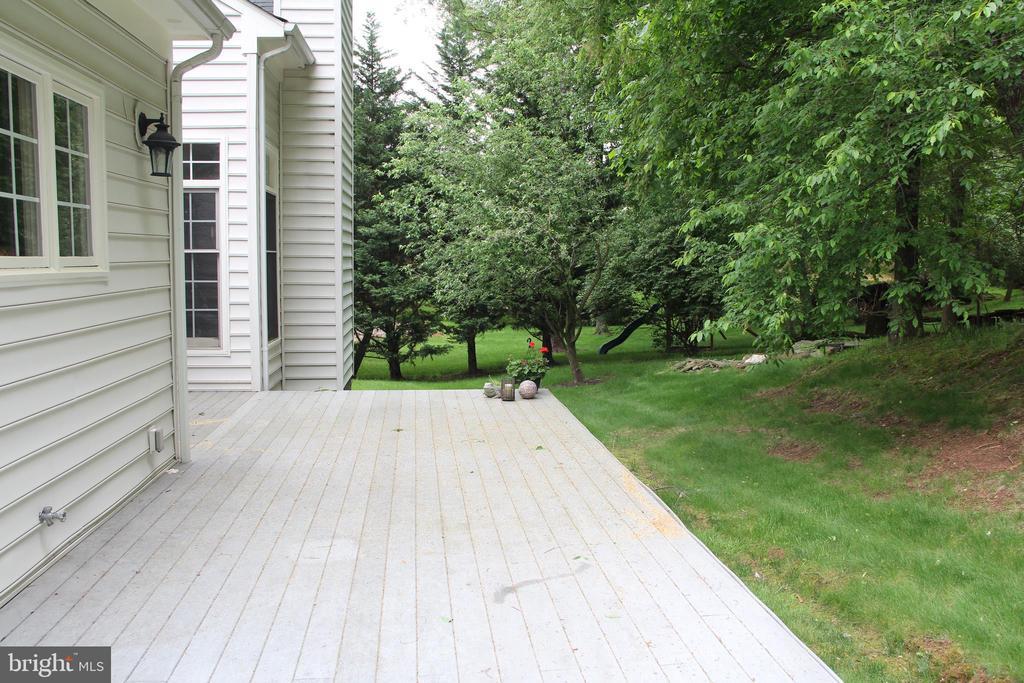 Wooded backyard and decking - 11911 CRAYTON CT, HERNDON