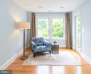 Master Bedroom Sitting Area - 6203 FOXCROFT RD, ALEXANDRIA