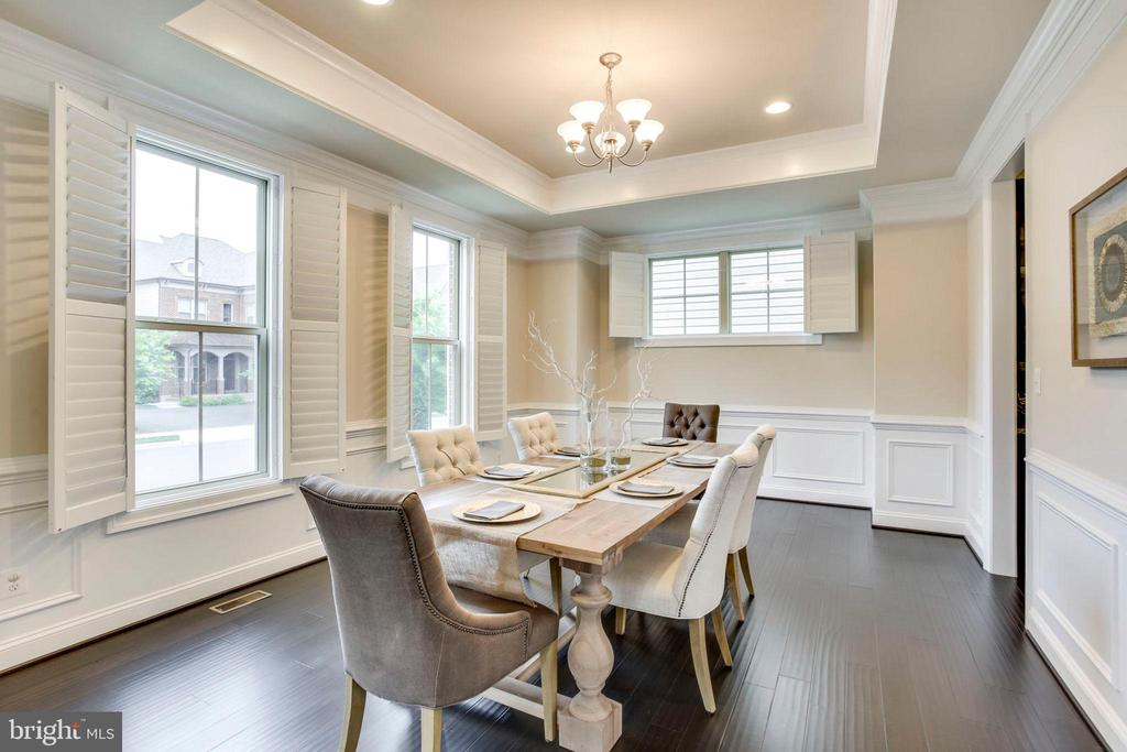 Dinning Room with Tray Ceiling - 20650 HOLYOKE DR, ASHBURN