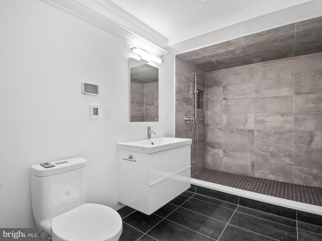 Basement Bathroom shower doubles as a Sauna. - 3927 OLIVER ST, CHEVY CHASE