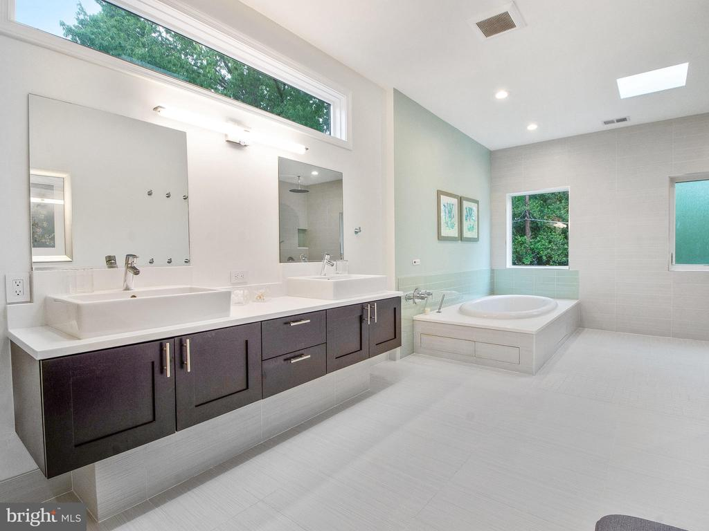 Master Bath: Heated floor, with a sunroof. - 3927 OLIVER ST, CHEVY CHASE
