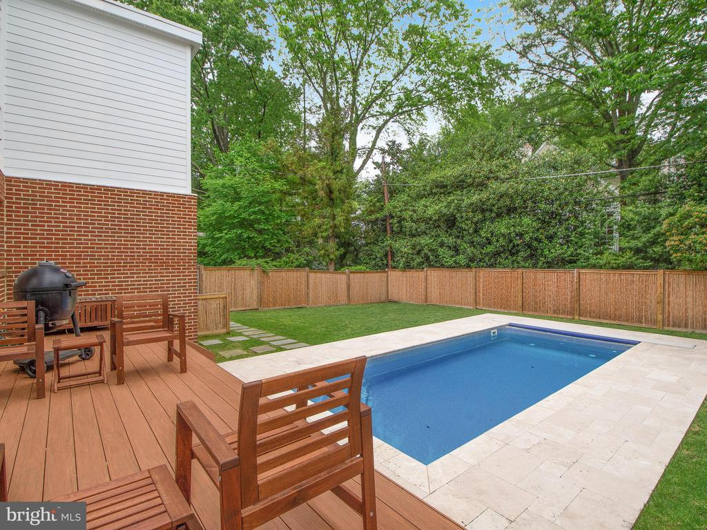 Heated Pool with automatic cover. - 3927 OLIVER ST, CHEVY CHASE
