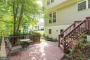 Private deck leads to separate basement entry - 32 MONUMENT DR, STAFFORD