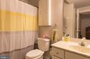 Full bath in basement with tub and shower. - 32 MONUMENT DR, STAFFORD