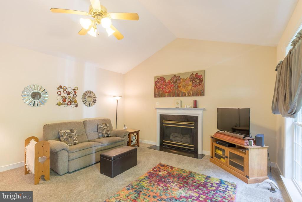 Enjoy the mood setting gas fireplace - 32 MONUMENT DR, STAFFORD