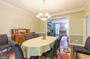 Formal dining for grand feasts or a big breakfast - 32 MONUMENT DR, STAFFORD