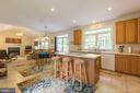 Bright and open space from  kitchen to family room - 32 MONUMENT DR, STAFFORD