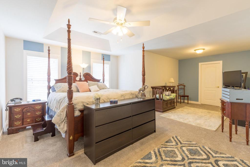 Oversized master suite with new carpet - 32 MONUMENT DR, STAFFORD