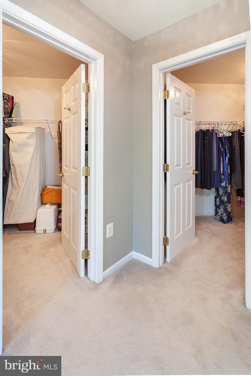 His and Hers Walk-in Master Closets - 894 STATION ST, HERNDON