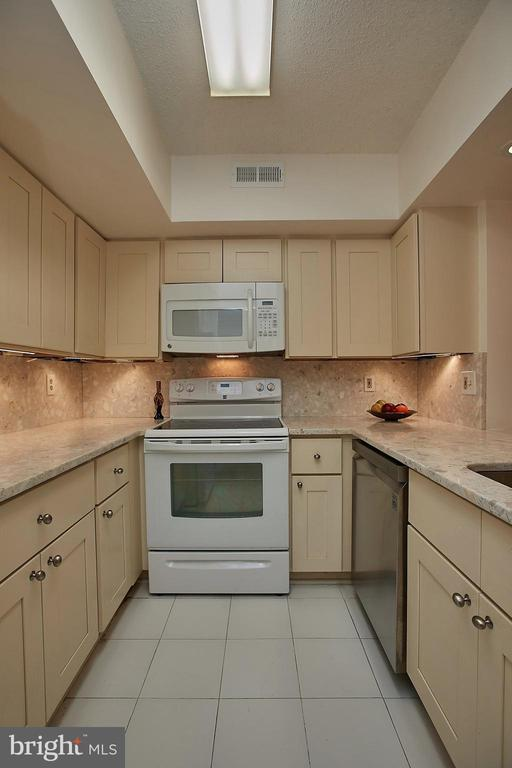 The kitchen was gutted, New cabinets installed, - 2400 CLARENDON BLVD #203, ARLINGTON
