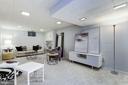 Full basement recreation room + storage & laundry - 5508 DEVON RD, BETHESDA