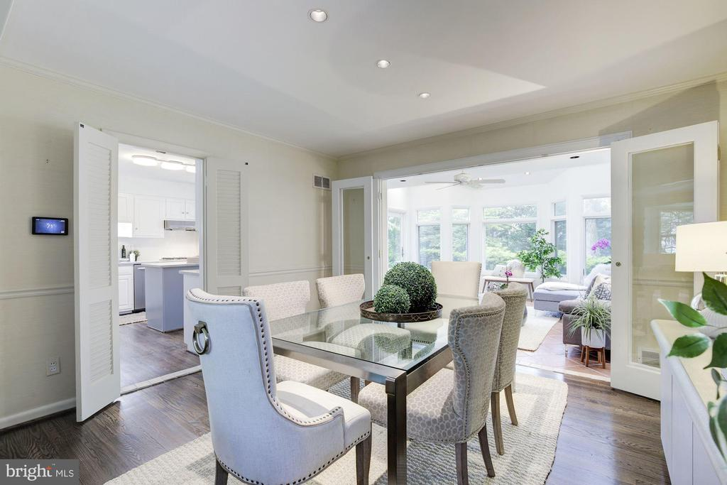 Open  living and dining perfect for entertaining - 5508 DEVON RD, BETHESDA