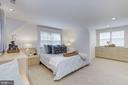 Spacious owners' suite w/ custom built-in storage - 5508 DEVON RD, BETHESDA