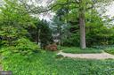 Zen style rock garden completes yard - 5508 DEVON RD, BETHESDA