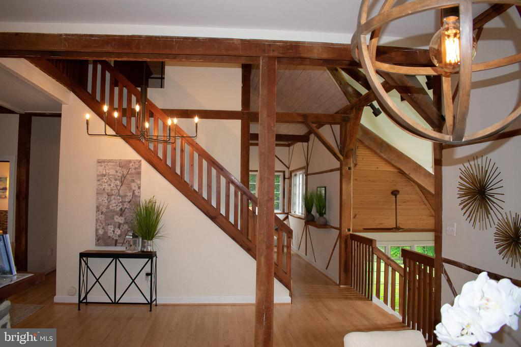 view of stairs up to loft - 37354 JOHN MOSBY HWY, MIDDLEBURG