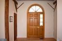 impressive front door - 37354 JOHN MOSBY HWY, MIDDLEBURG
