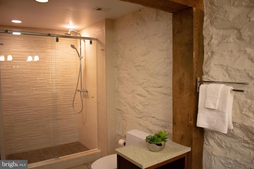 master bath with natural stone - 37354 JOHN MOSBY HWY, MIDDLEBURG