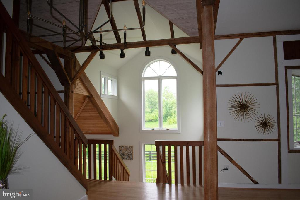 large windows look out on backyard and field - 37354 JOHN MOSBY HWY, MIDDLEBURG