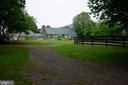 view of home on walk up from barn - 37354 JOHN MOSBY HWY, MIDDLEBURG