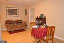LOWER LEVEL FAMILY ROOM / 4TH BEDROOM - 9770 MAIN ST, FAIRFAX