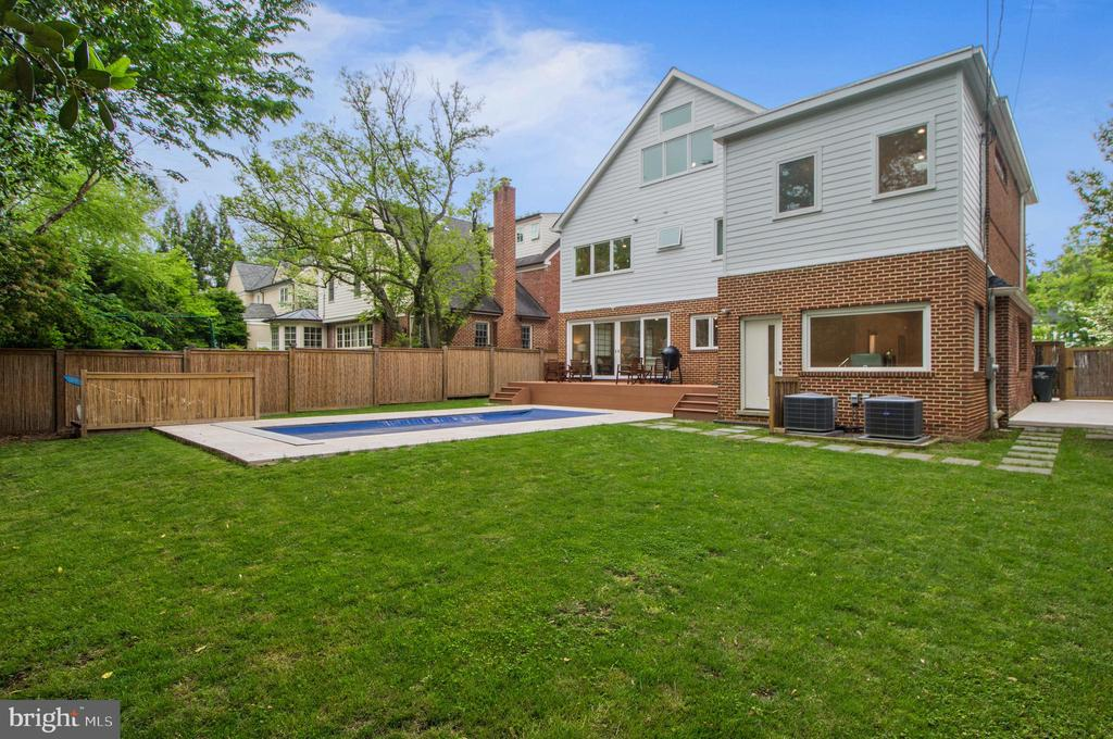 Pool with the automatic cover closed. - 3927 OLIVER ST, CHEVY CHASE