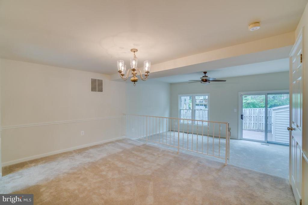 Dining Room with Chair Railing - 12090 WINONA DR, WOODBRIDGE