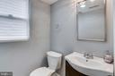 Powder room on main level - 4704 BROOKS ST NE, WASHINGTON