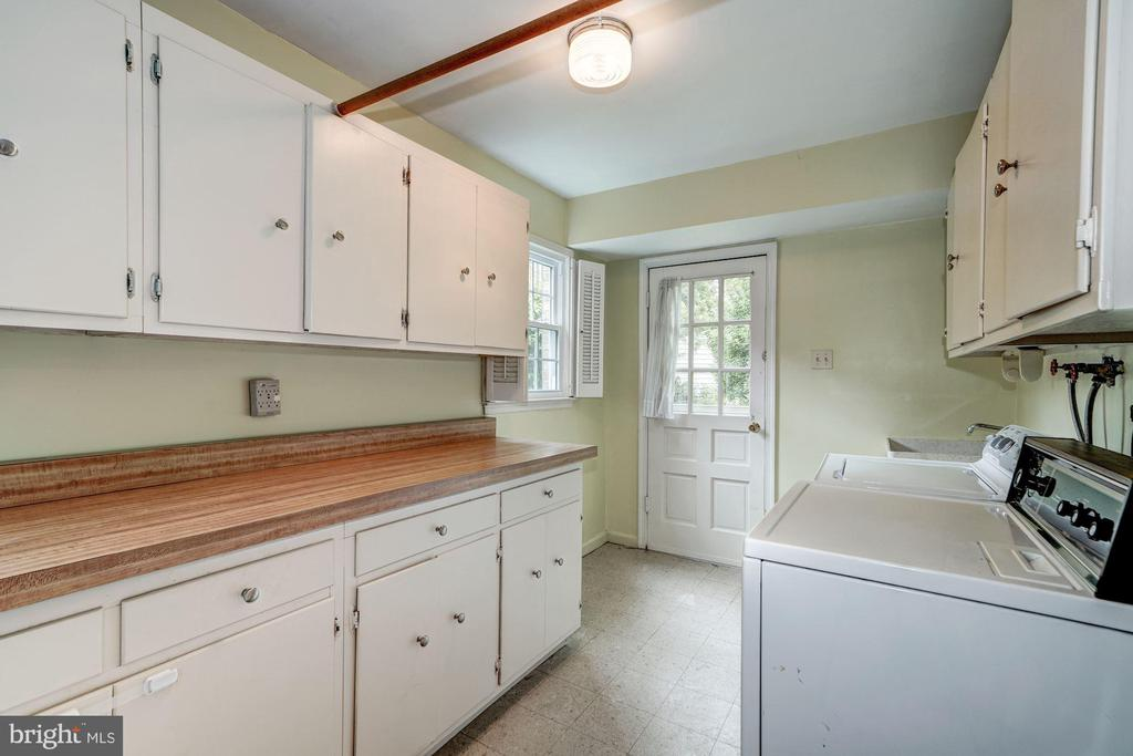 Lower Level 1 - Laundry Room w/doorway to side yar - 8623 APPLETON CT, ANNANDALE
